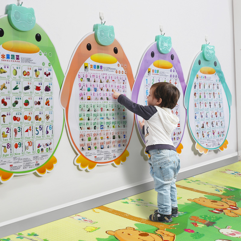 Pronunciation Number Pinyin Voice Wallchart for Early Childhood Education Enlightenment Voice Literacy Card Toy Alphabet Wall Paste
