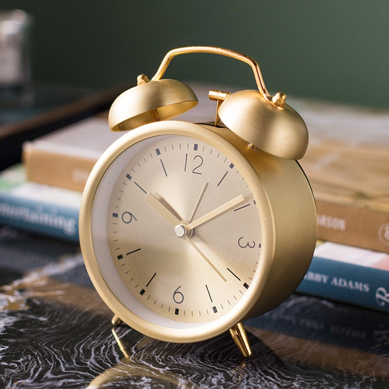 Nordic Wind ins Metal Machinery Bells Small Alarm Clocks Ultra-loud Students Use Home Quiet Retro Clocks