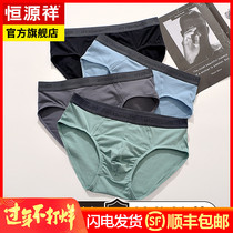 Hengyuan Xiang mens underwear mens cotton briefs youth antibacterial summer thin breathable shorts head waist sexy