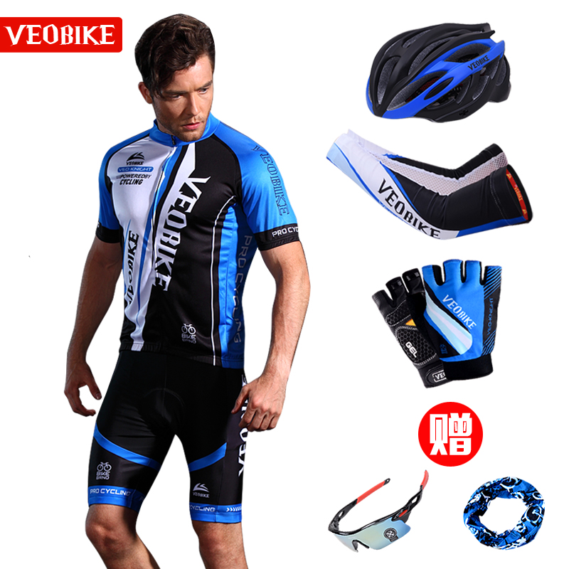 Short-sleeved Men's Summer Cycling Suit Mountain Bicycle Cycling Suit Short-pants Equipment Bicycle Clothing Customization