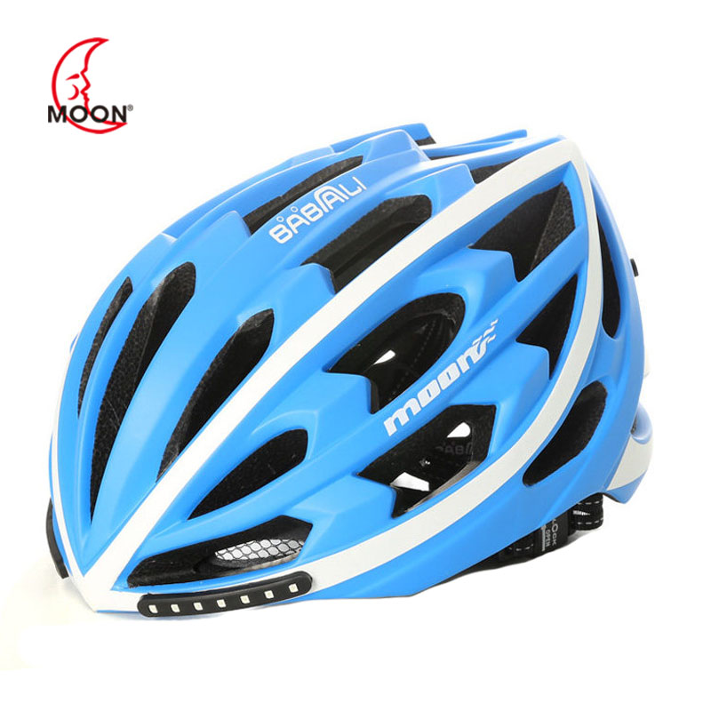 Moon smart turn signal brake light riding helmet One-piece bicycle mountain bike men and women