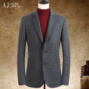 Men's men's winter wool suit thickened slim casual suit jacket jacket Korean wool single West