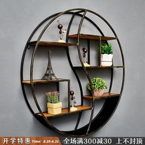 Wall decoration shelf Tieyi hairdresser wall decoration retro living room dining room wall hanging panel wall wall hanging wall