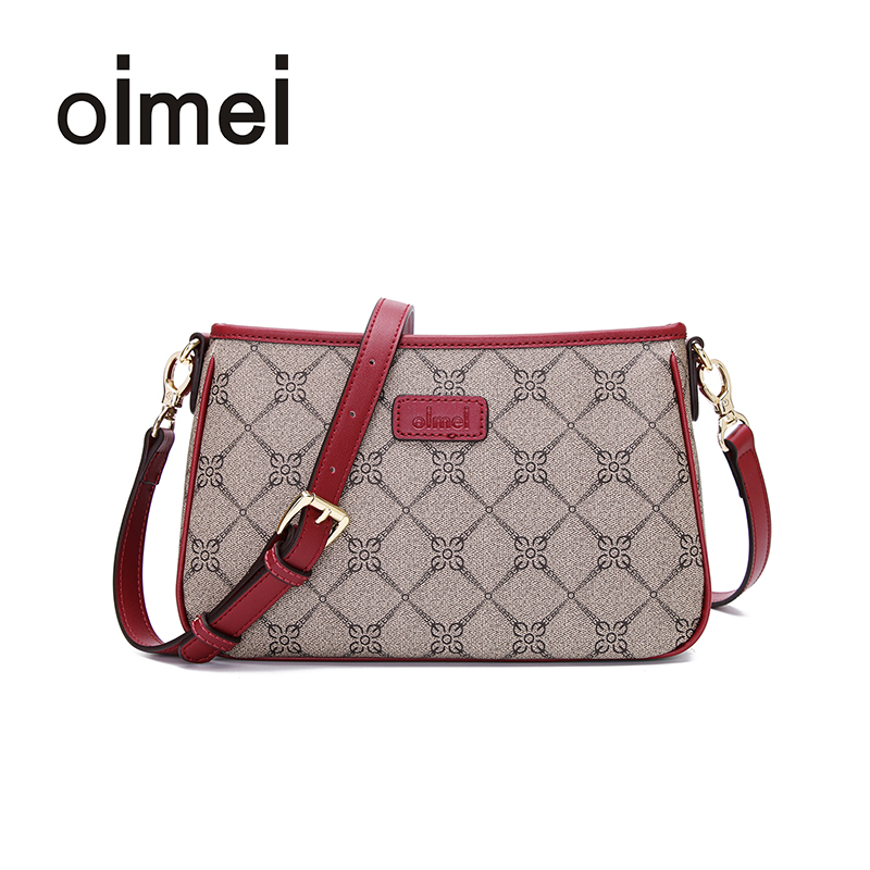 Oimei flagship store lady bag slanting bag lady leisure bag single shoulder bag middle-aged lady bag mother bag PVC