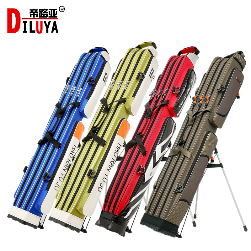 Fish-bag fishing gear bag 1.25 meters three layers two layers fishing-bag rod-bag waterproof hard-shell fishing gear bag
