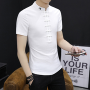 The summer wind Chinese flax short sleeved T-shirt costume young men cotton casual shirt Mens Chinese national costume