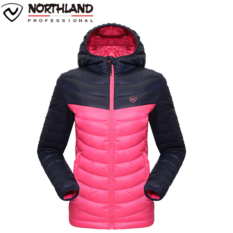 NORTHLAND / Norseland women's new lightweight warm windproof white goose down jacket GD042998