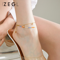 ZENGLIU niche design net red anklet female models sexy personality 2021 new multicolored dragon boat anklet female models sexy personality 2021 new multicolored dragon boat anklet female models sexy personality 2021 new multicolored