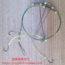 Refined white fruit string hook fishing group Special yellow chicken chicken Stainless steel 8 word ring scale sea fishing rack hook frame