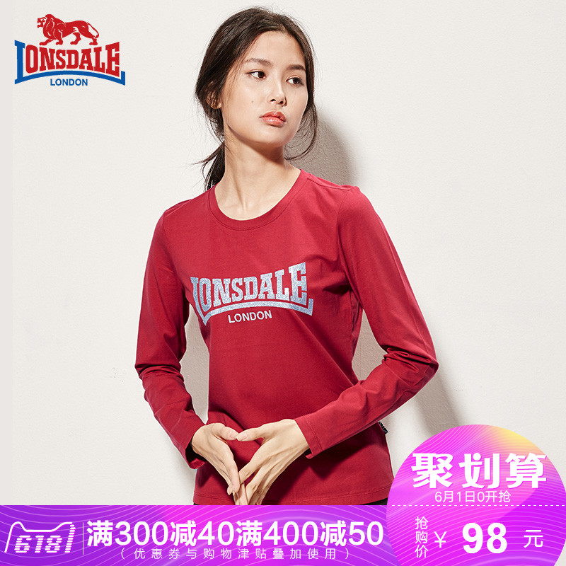 Dragon and Lion Dale 2018 Spring and Autumn New Women's Round Neck Long Sleeve British Fashion Slim T-shirt Autumn Shirt