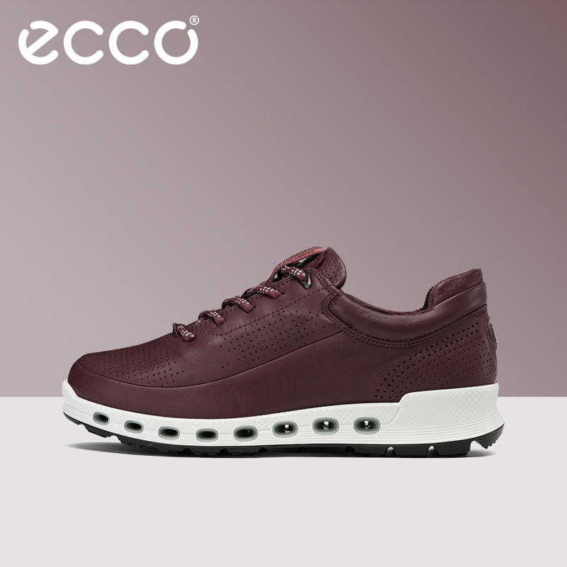 ECCO ECCO fashion leather flat shoes with waterproof and breathable sneakers Oxygen permeability 2.0 series 842513