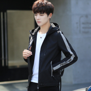 Men's coats fall trend of Korean students slim hooded handsome men's casual clothes and Japanese style jacket