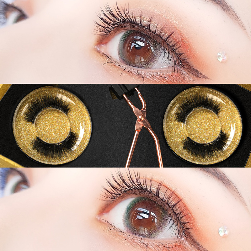 Fake eyelashes, women's affixed with natural red net, simulation quantum double magnet tiktok magnet magnet iron graft set trembling artifact