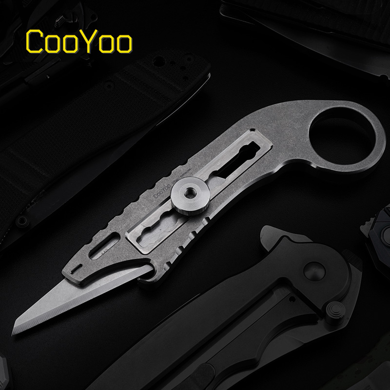 "Cool Friends CooYoo VRax-I ""Wei Rui""Tactical Utility Knife Titanium EDC Utility Knife"