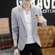 Men's coats fall 2017 new thin casual suit Slim small suit jacket handsome Korean Trend