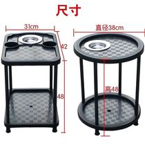 Supplies Movable small tea cart tea table Tea rack storage rack Plastic matching round sparrow table guest pulley plus