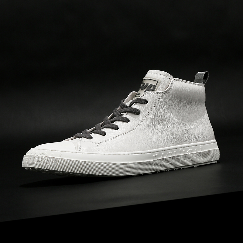 Men's shoes autumn and winter 2020 new high-top shoes men's Korean style trend leather British style high-top shoes men's all-match