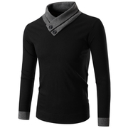 Autumn and winter half Turtleneck Shirt with the trend of Korean male cashmere sweater coat man knit thickened