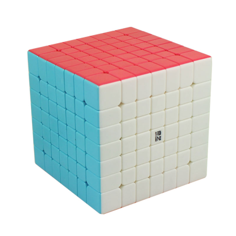 Qiyi 7th-order Rubik's Cube Starts 7th-order High-order Rubik's Cube Competition Real-color Non-sticker Smooth Spring Adjustable Tightening