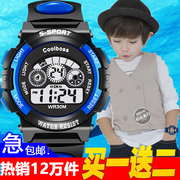 Children's watches, boys electronic watches, girls waterproof luminous, primary school watches, boys, girls, sports watches, fashion watches