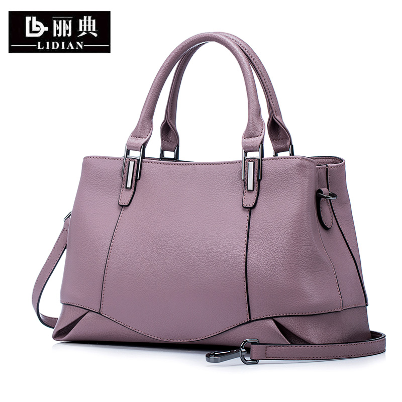 Women's Bag, Women's Handbag, Real Leather, Korean Version, Brief Temperament, Atmospheric Mother's Bag, Middle-aged One-shoulder Slant Bag