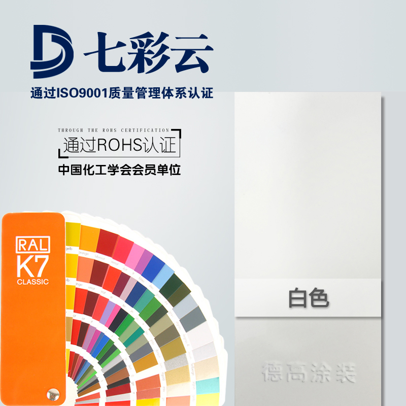 Colorful cloud brand thermoset electrostatic powder coating high-gloss plastic powder 9003 9010 9016 9002
