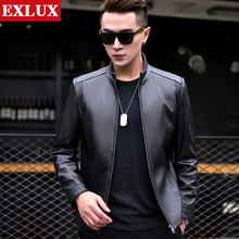 Haining genuine leather jacket men's Korean version of handsome sheepskin jacket men's spring and autumn locomotive jacket new style 2019