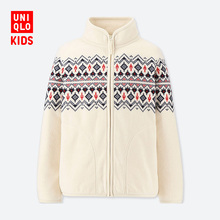 Children's wear / boy's printed fleece zipper jacket (long sleeve) 412044 UNIQLO UNIQLO