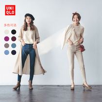 Uniqlo womens worsted merino round neck sweater (long sleeve early autumn pure wool sweater) 439149