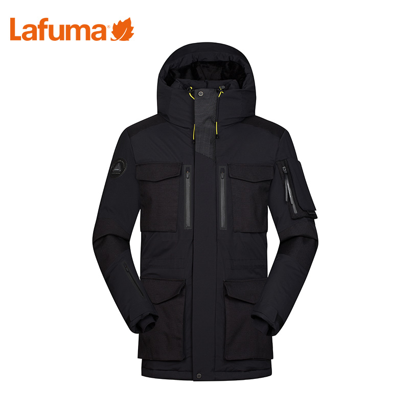 LAFUMA Le Feiye mens outdoor hooded warm goose down workwear medium-length LMJU9D413