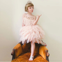 Summer Girls strapless dress tutu skirt childrens baby dress skirt pleated skirt tutu skirt princess skirt tulle skirt