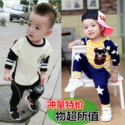 2017 new baby boy autumn summer suit children 0-1-2-3 years old children's wear long sleeved clothes children tide
