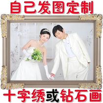 Фото пользовательские вышивки крестом 2019 новый diy ручной вышивки простой нитью вышитые пары жениться маленькие кусочки сами вышитые