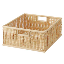 MUJI can overlap the oil palm leaf handle in a square basket