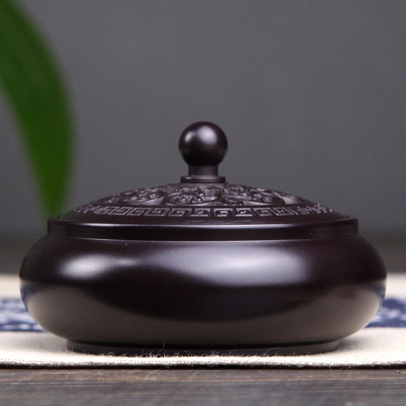 Pure copper incense burner Household dish incense burner Large size incense burner Sandalwood incense burner Tea channel incense burner for Buddha incense burner