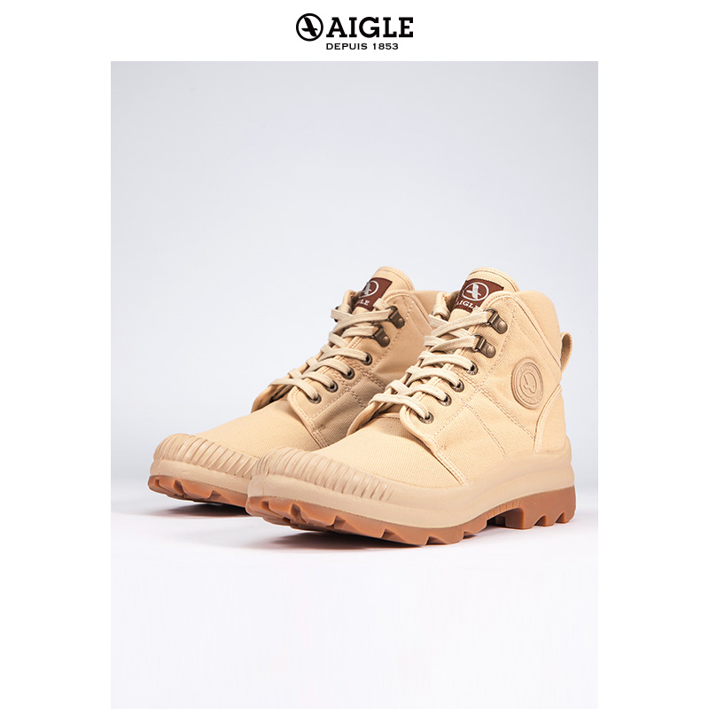 AIGLE Men's High Top Lace Up Canvas Shoes TENERE 2