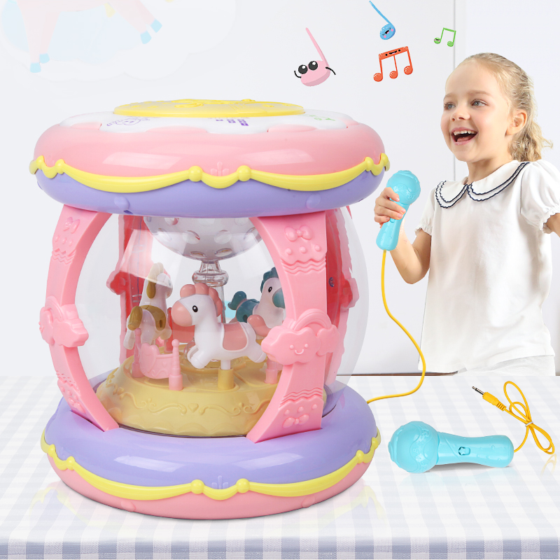 Baby music hand beat drum toy children beat drum early teach Wisdom 1 year old 0-6-12 months infant 3 rechargeable