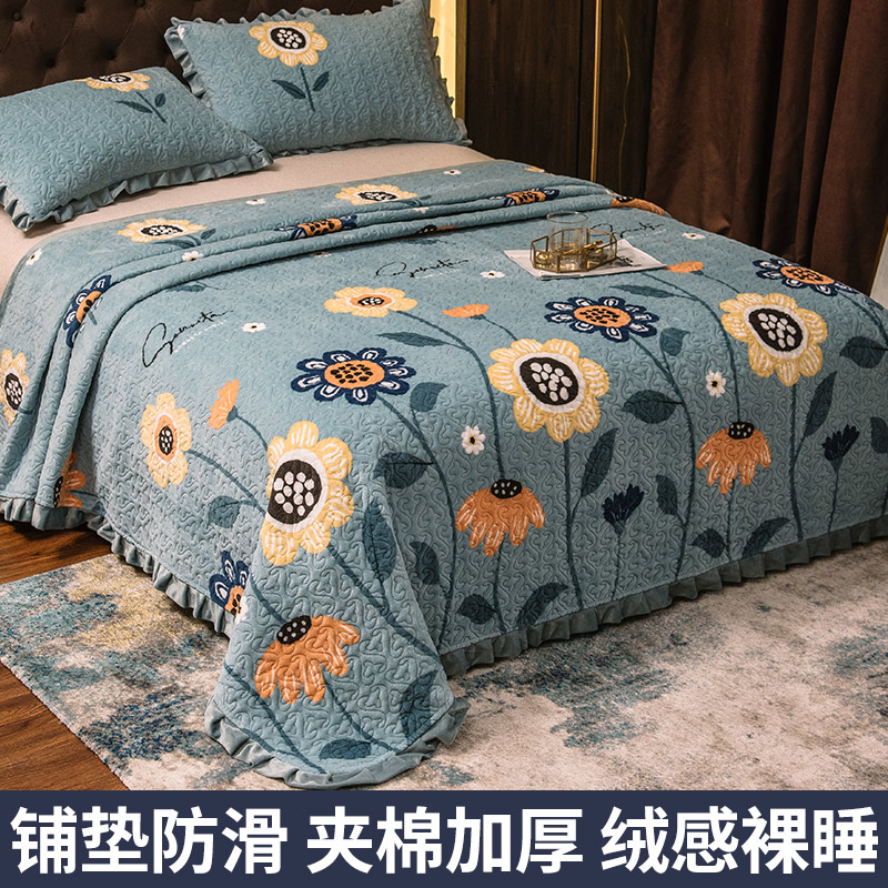 In winter牀 coral frankince blanket blankets are thick and warm double-sided plush plush velvet 牀 non-slip