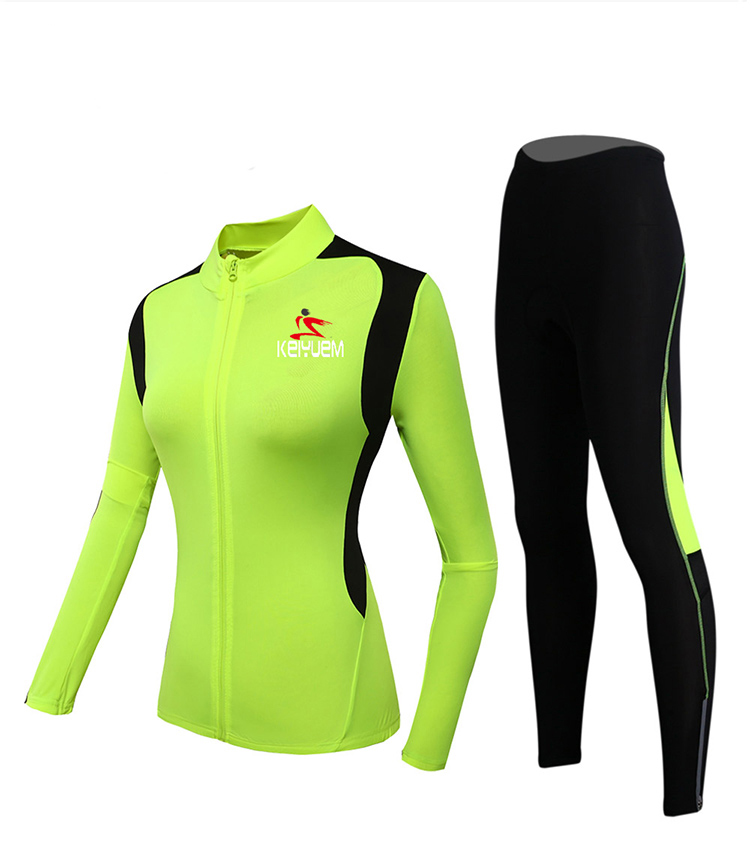 Summer and Autumn Cycling Suit Long Sleeve Women's Slim Grasping Suit Long Sleeve Cycling Trousers Women
