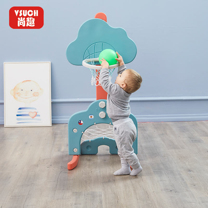 Children's basketball rack can be lifted indoor household shooting basket Children's 1-2-3 year old baby boy toys