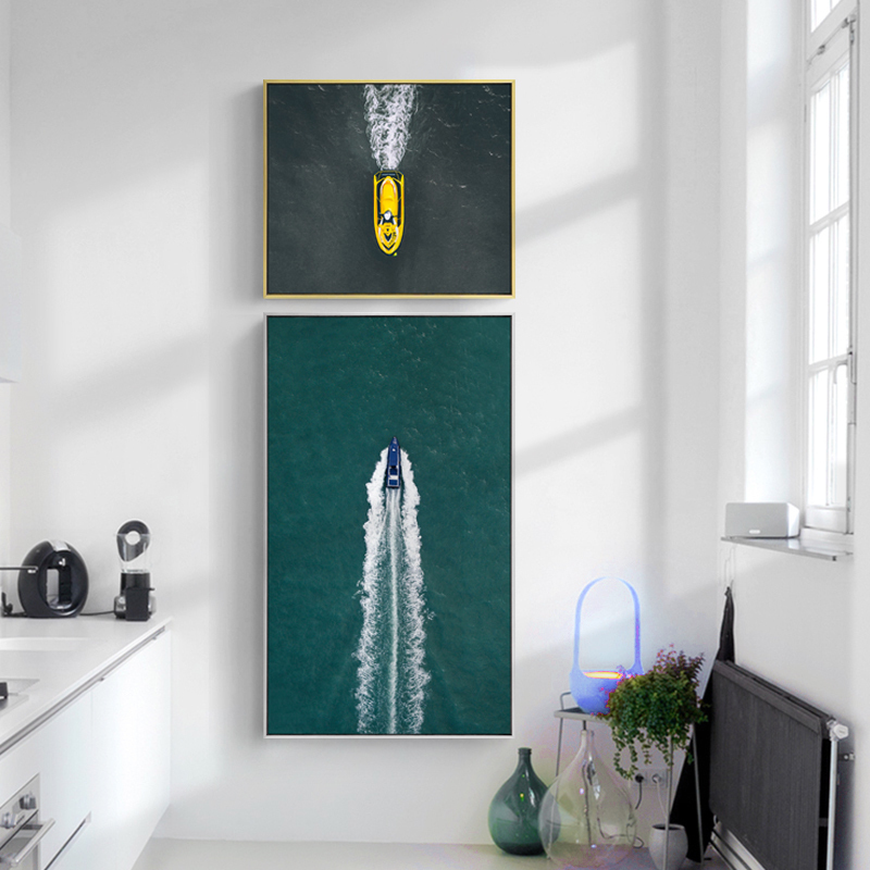Cangsheng modern concise porch decorative painting creative double corridor aisle vertical engraving hanging landscape murals