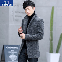 2020 new wool coat mens autumn winter wind coat in the long version of plush thick winter mens nizi