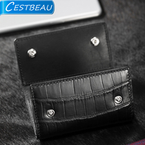 Cestbeau men's and women's general household key pack alligator skin key pack fashion change wallet Nile crocodile belly