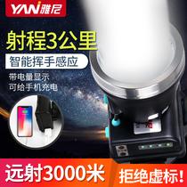 Yanni LED head light lumineux rechargeable ultra-lumineux tête-monté lampe de poche en plein air lampe au lithium longue durée de vie
