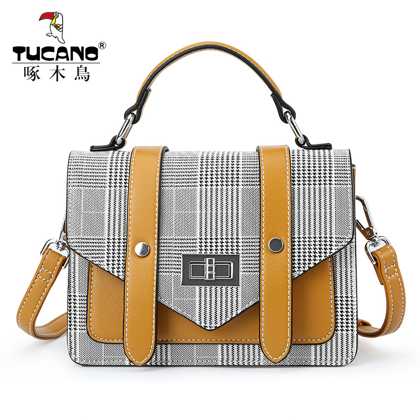 Woodpecker handbag 2018 new single shoulder slung Korean version of the bag female simple diagonal cross-bag fashion trend female bag