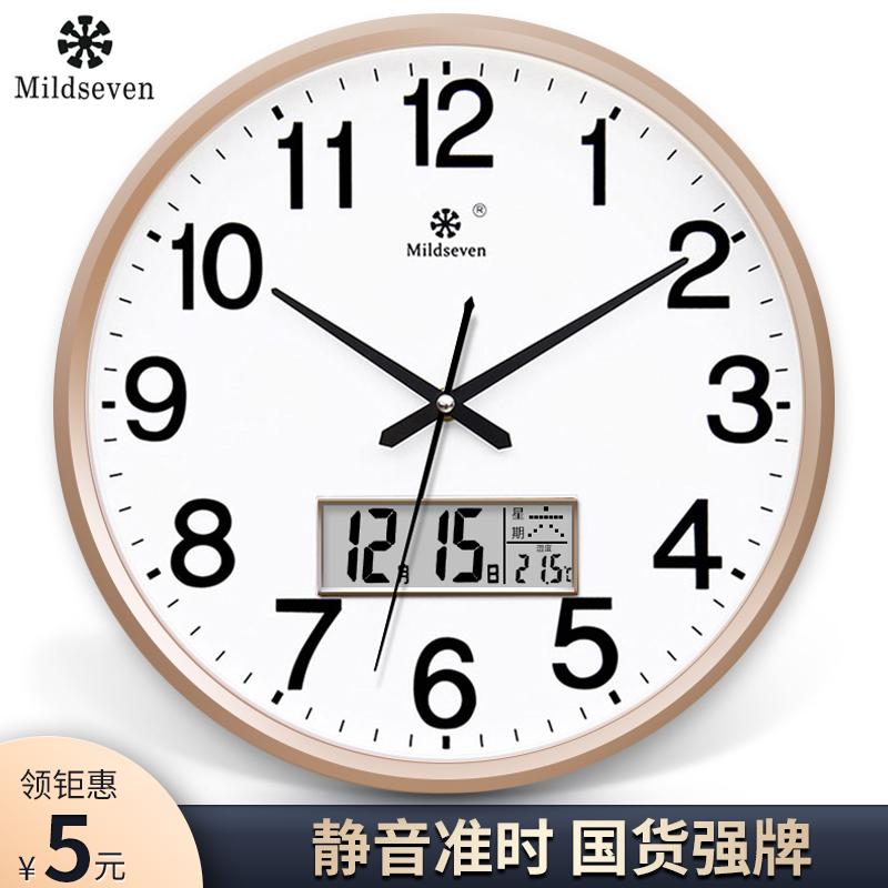 Horloge mur d'horloge salon mode horloge créative horloge de personnalité suspendue montre simple maison silencieuse quartz horloge murale suspendue