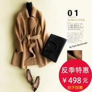 2017 new autumn and winter coat in women's double long wool woolen coat little korea season cashmere