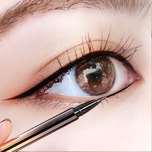 Poetry zhi ling eyeliner female waterproof and sweatproof nondiscolouring lasting quality goods not shading beginners web celebrity liquid eyeliner gel