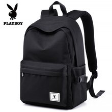 Playboy Male Shoulder Backpack Male Student Backpack Outdoor Sports Business Leisure High School Girls Handbag