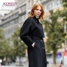 Pre-sale SCOFIELD women's wear 2009 autumn and winter disassemblable double-sided woolen overcoat SFJW98T05L